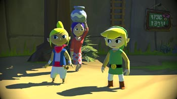 legend of zelda wind waker hd screen