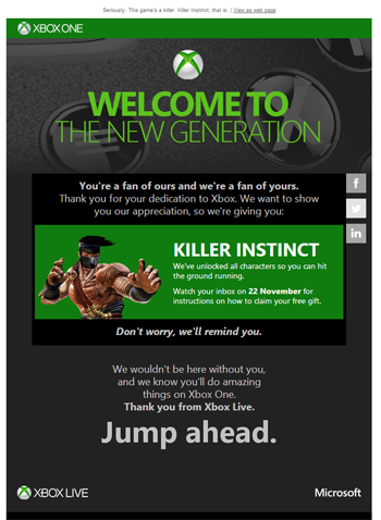 Killer Instinct Giveaway