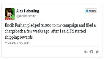 Kickstarter Scammer