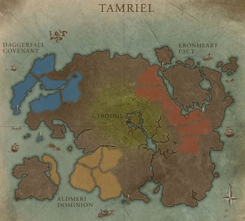 Elder Scrolls Online interactive map