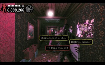 Typing of the Dead: Overkill Shakespeare screen