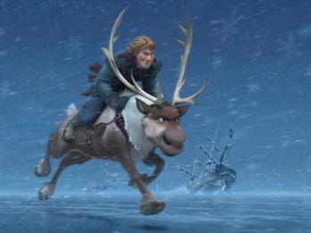 frozen deer rider
