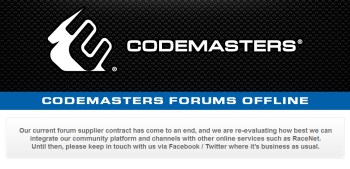 Codemasters forum message