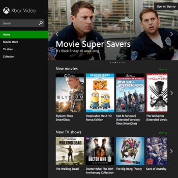 Xbox Video Website - Main