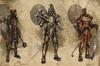 The Elder Scrolls Online Releases Argonian  Orc and Khajiit Armor ArtElder Scrolls Online Argonian Armor