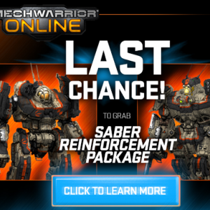 Mechwarrior Online Saber Reinforcement Package