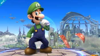 luigi in smash bros screenshot 2