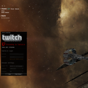 EVE Online Twitch Feed