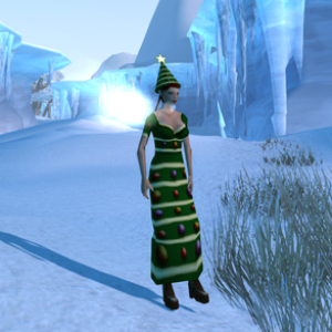 Anarchy Online Christmas Dress
