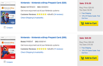 eShop Best Buy Discount