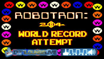 Robotron 2084 world record break attempt