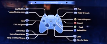 Titanfall Default Controller Layout
