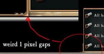 Weird 1 pixel gaps