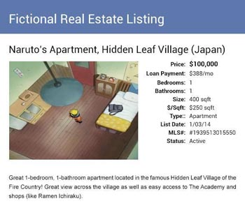 Naruto apartment listing from Movoto Real Estate