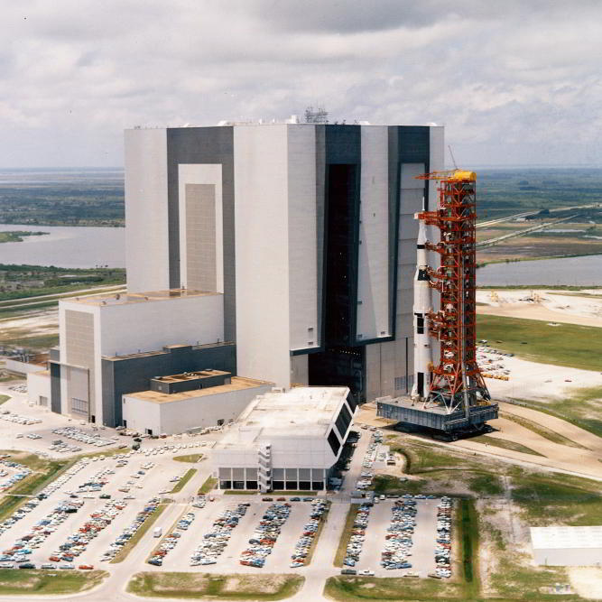 Vehicle Assmebly Building VAB at Kennedy Space Center KSC