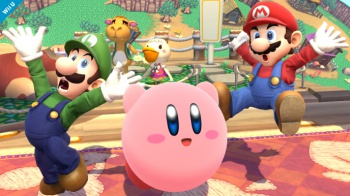 luigi in smash bros screenshot 3