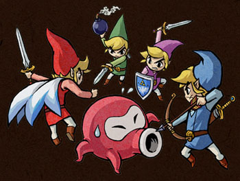 Zelda Four Swords official art