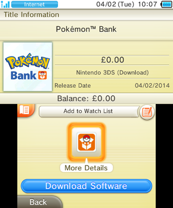Pokemon Bank Europe