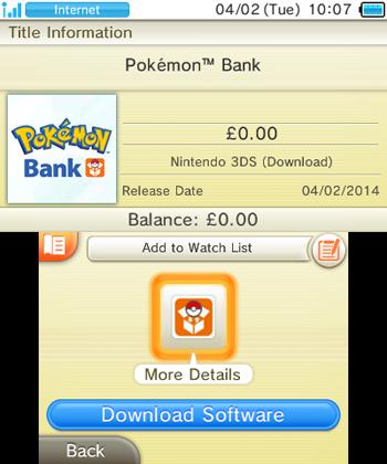 Pokemon Bank Europe