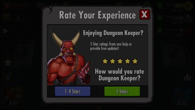 dungeon keeper rating