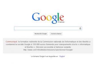 google france notice