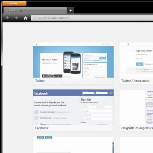 Firefox 27 New Tab Square