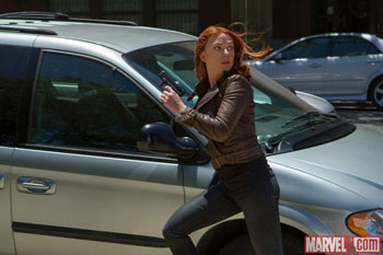 Black Widow in The Winter Soldier