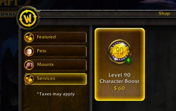 world of warcraft level 90 boost