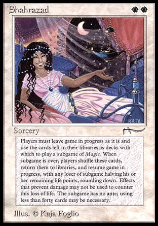 shahrazad magic the gathering card