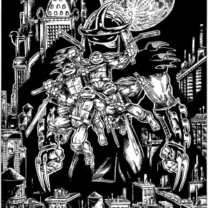 TMNT Black And White Cover