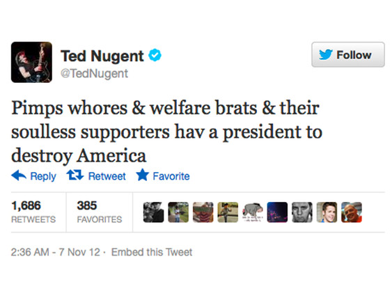 Ted Nugent Twitter 08