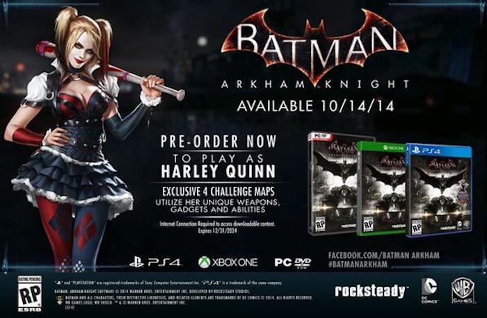 Batman: Arkham Knight pre-order