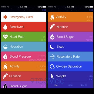 Apple iOS 8 Healthbook 310x