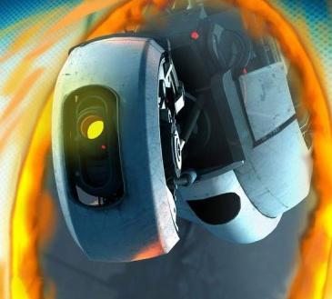 Portal 2 - Chell and GLaDOS Art