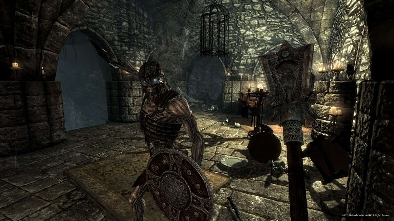Draugr dungeon in Skyrim