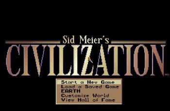 Civilization opening screen