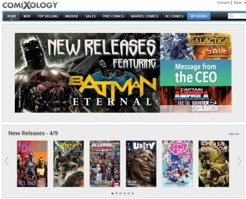 ComiXology Storefront Screenshot