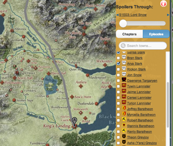 Track game of thrones characters paths with this interactive map game of thrones interactive map gumiabroncs Gallery