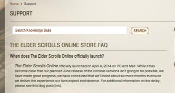 the elder scrolls online delay