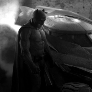 Batman Affleck and Batmobile