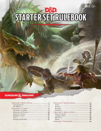 D&D Starter Set Table of Contents