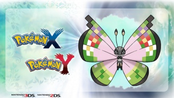 Pokemon X and Y fancy Vivillon