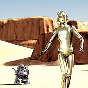 the star wars droids
