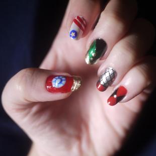 avengers nail art 9