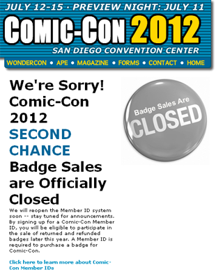 Comic Con badge problems