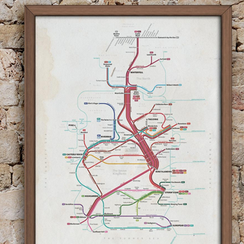 Game of Thrones Transit Map King's Landing