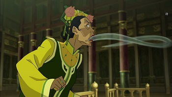 zaheer airbends air out of earth queen legend of korra long live the queen