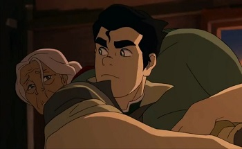 bolin carries grandmother - legend of korra ultimatum
