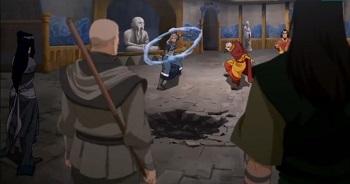 tenzin zaheer minghua ghazan kya bumi - legend of korra ultimatum