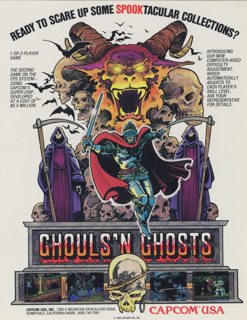 ghouls n ghosts - advertisment